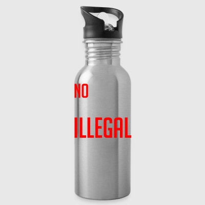 No Human Being Is Illegal - Water Bottle