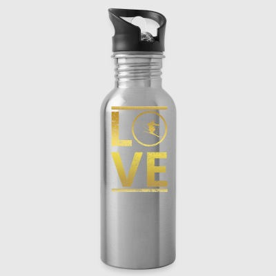 love calling profi king master ski skiing - Water Bottle