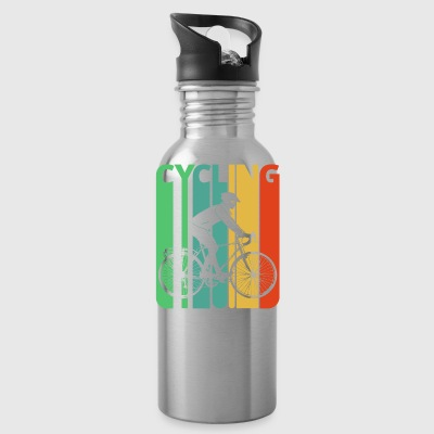 Vintage Retro Cycling Gifts for Cyclists. Bicycle - Water Bottle