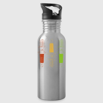 Spark Plugs - Red Yellow Green - Water Bottle