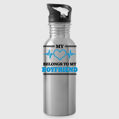 My heart belongs to my boyfriend - Trinkflasche