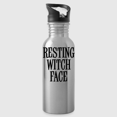 Resting Black Witch Face - Drikkeflaske