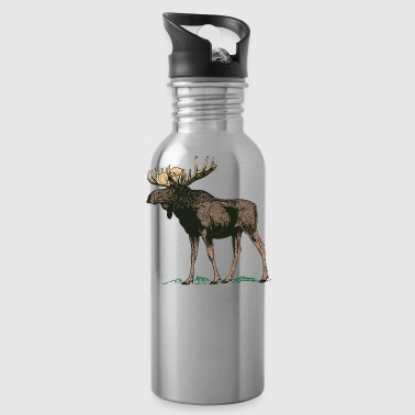 Moose Norway Finland Sweden Scandinavia - Water Bottle