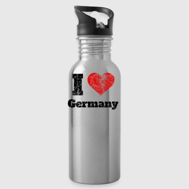 Tshirt I Love Germany Geschenkidee Shirt retro old - Trinkflasche