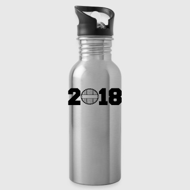 Gift 2018 New Year born year year biker cycle c - Water Bottle