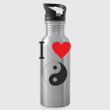 I LOVE YIN YANG is clear that everyone likes that - Water Bottle