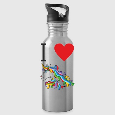 I love cute, colorful, cute unicorns. - Water Bottle