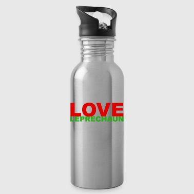 Peace Love Leprechauns St Patricks Day Lucky - Water Bottle