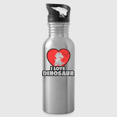 I love dinosaurs gift Valentine's Day Sweet - Water Bottle