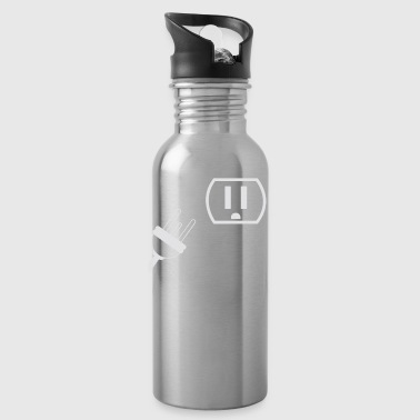 no mood font outlet plug - Water Bottle