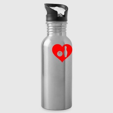 I love bowling - Water Bottle