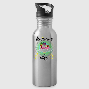 The most beautiful unicorns are born in May - Water Bottle