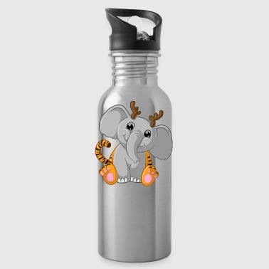 Cute cartoon Tigerfant - Water Bottle