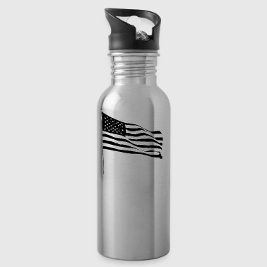 I stand USA America flag - Water Bottle