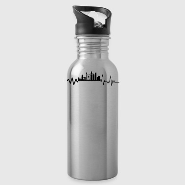 Heartbeat London T-Shirt Gift England Metropol - Water Bottle