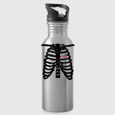 Heart skeleton heart love chess koenig gift ske - Water Bottle