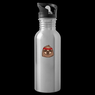 Funny Team Sloth Lazy Marathon Running Fan Gift - Water Bottle