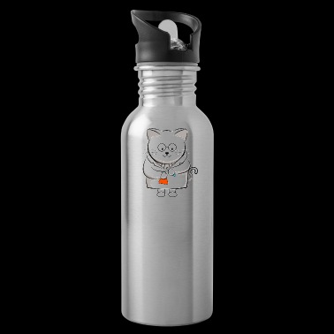 The Cation Ions Are Pawsitive Chemie Katze - Trinkflasche