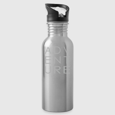 Adventure White / Gray with Frame Unisex - Water Bottle