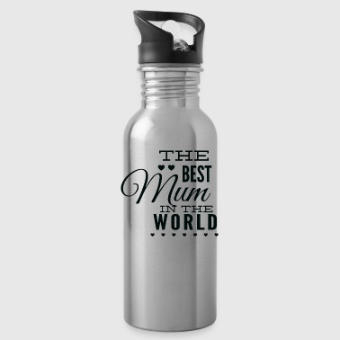 the best mom in the world black - Water Bottle