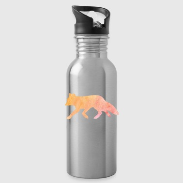 Fox silhouet aquarel gift - Drinkfles
