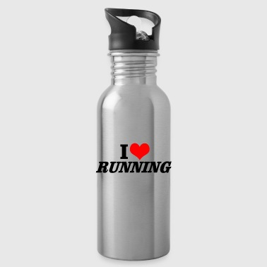 Running Running Cardio Fitness Endurance Gift - Water Bottle