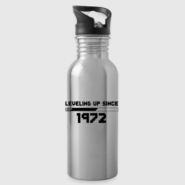 Gamer vintage leveling up since 1972 - Water Bottle