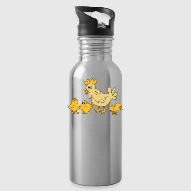 chicken family - Water Bottle