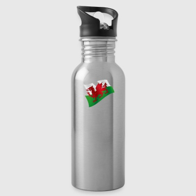 Wales UK Cardiff Flag Flag Colors Celtic - Water Bottle