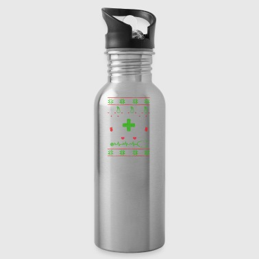 Nurse nursing profession Ugly Christmas - Water Bottle