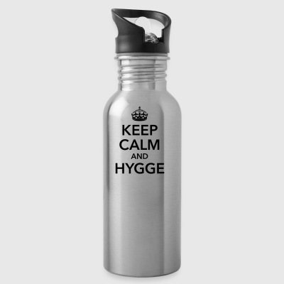 keep calm and hygge happiness happy positive - Water Bottle