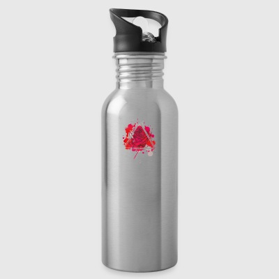 Red rose triangle - Water Bottle