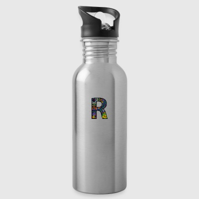 Letter R Mandala - Water Bottle