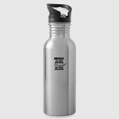 Muggle in the streets wizard in the sheets - Water Bottle