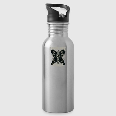 Motorcycle Chopper Biker Highway Motor Christmas - Water Bottle