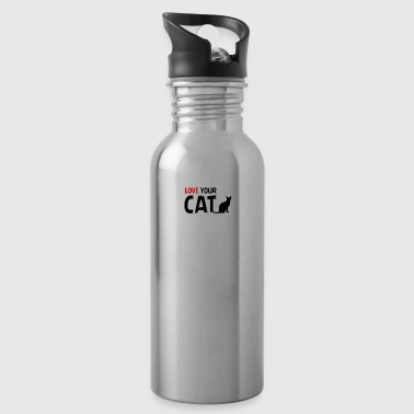 Cats cat pets Love your chaps - Water Bottle