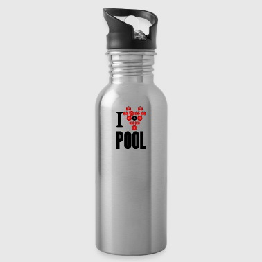 I love pool - Trinkflasche