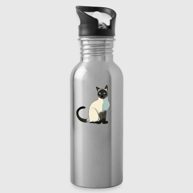 cat gamer - Water Bottle