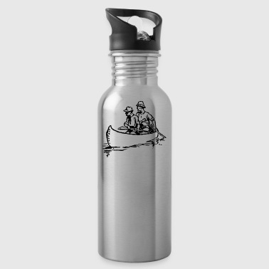 canoe kayak canoe barge paddle boat rowboat10 - Water Bottle