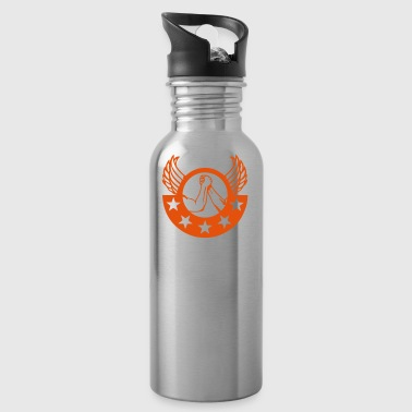 arm wrestling arm iron logo12 - Water Bottle