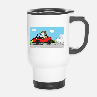 Bolide bolide et chien - Mug thermos