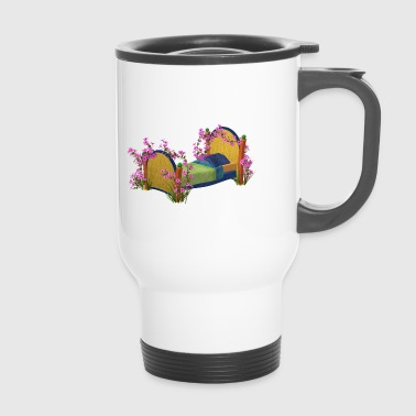 The bed in bloom - Travel Mug