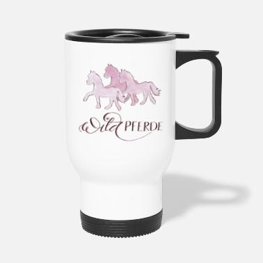 Sauvage Chevaux sauvages roses - Mug isotherme