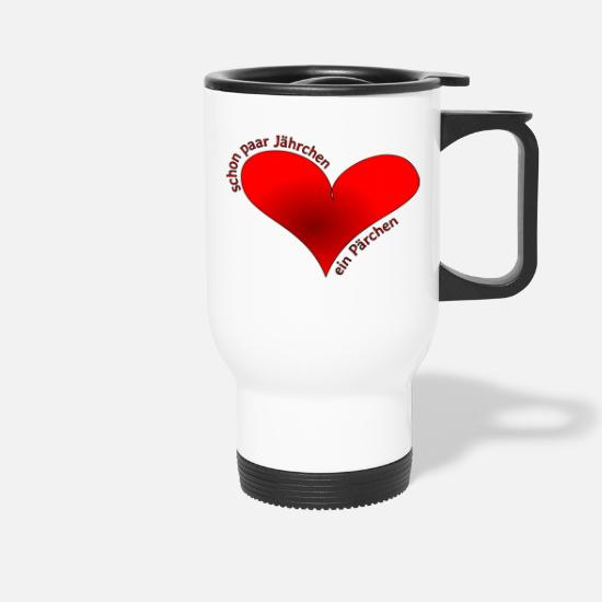Love Mugs & Drinkware - Even couple of years a couple - Travel Mug white