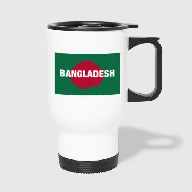 The Bangladesh Flag - Centred White Text - Travel Mug