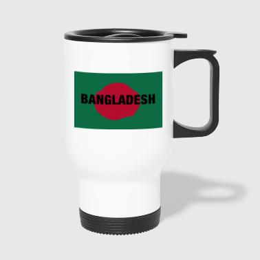 The Bangladesh Flag - Centred Black Text - Travel Mug