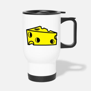 Cheese swiss cheese sliced with holes - Travel Mug