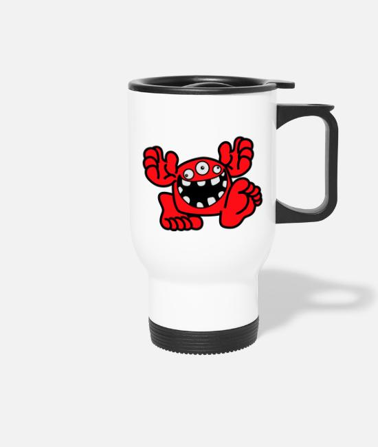 Art Mugs & Drinkware - Proud To Be A Monster Cartoon by Cheerful Madness! - Travel Mug white