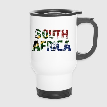 South Africa South Africa flag banner font - Travel Mug