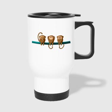 Do not see, do not hear, do not talk - Travel Mug